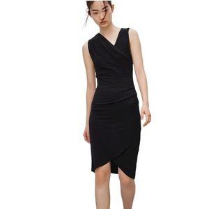 Aritzia Wilfred Free Izadora Faux Wrap Midi Dress
